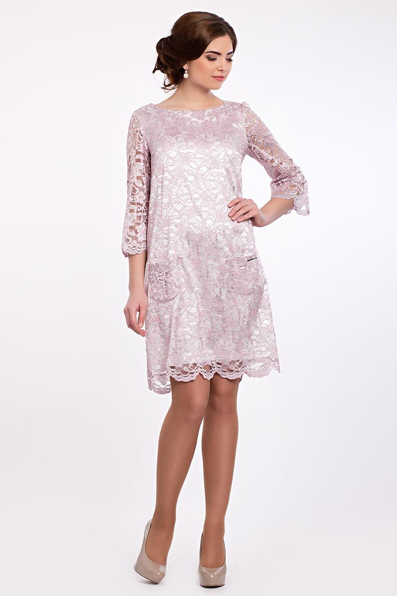 e0acaa4b1f47 Платье Лайза прямое кружевное белое и розовое , дизайнерское вечернее платье
